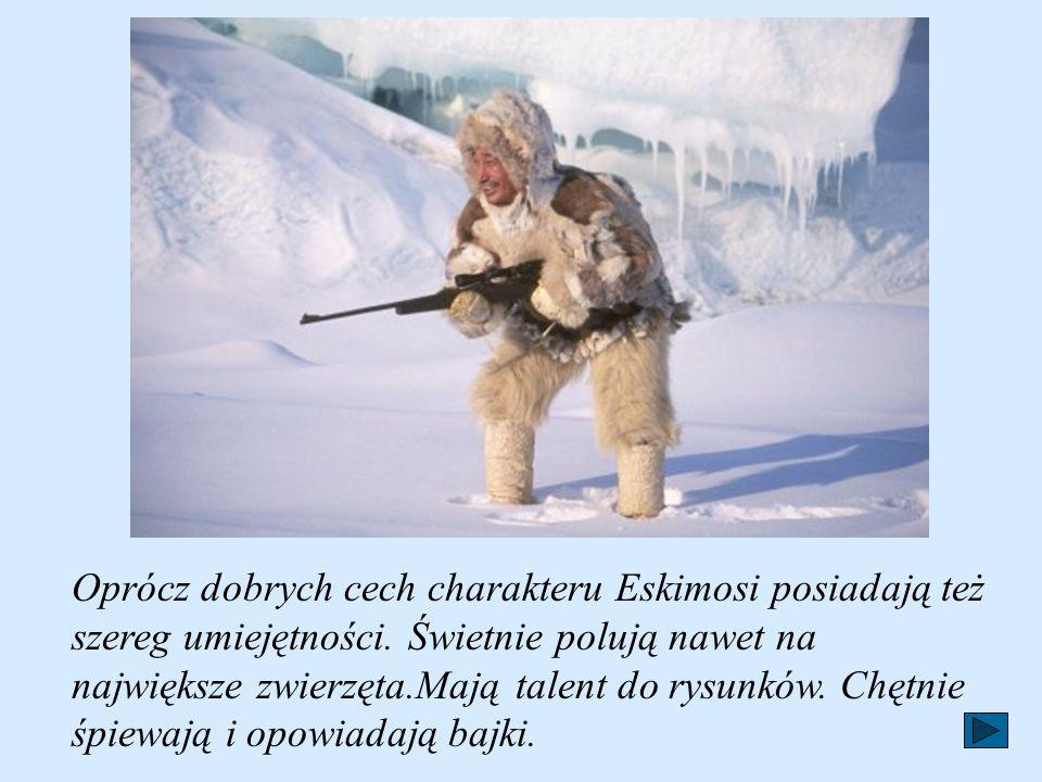 Oprócz dobrych cech charakteru Eskimosi posiadają też szereg umiejętności.