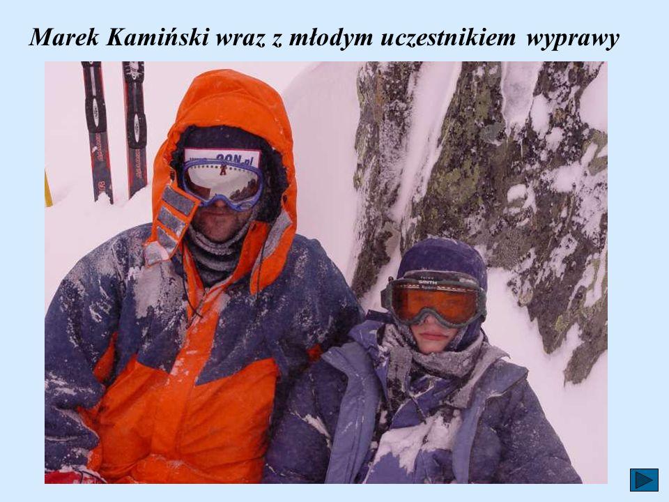 Marek Kamiński wraz z młodym uczestnikiem wyprawy