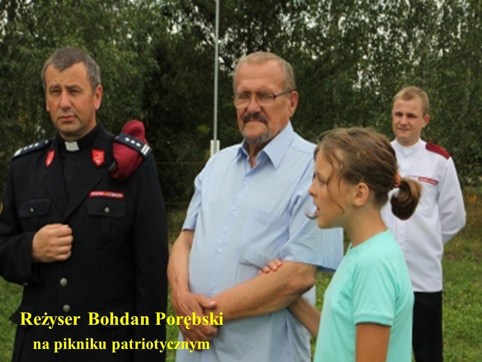 Reżyser Bohdan Porębski na pikniku patriotycznym