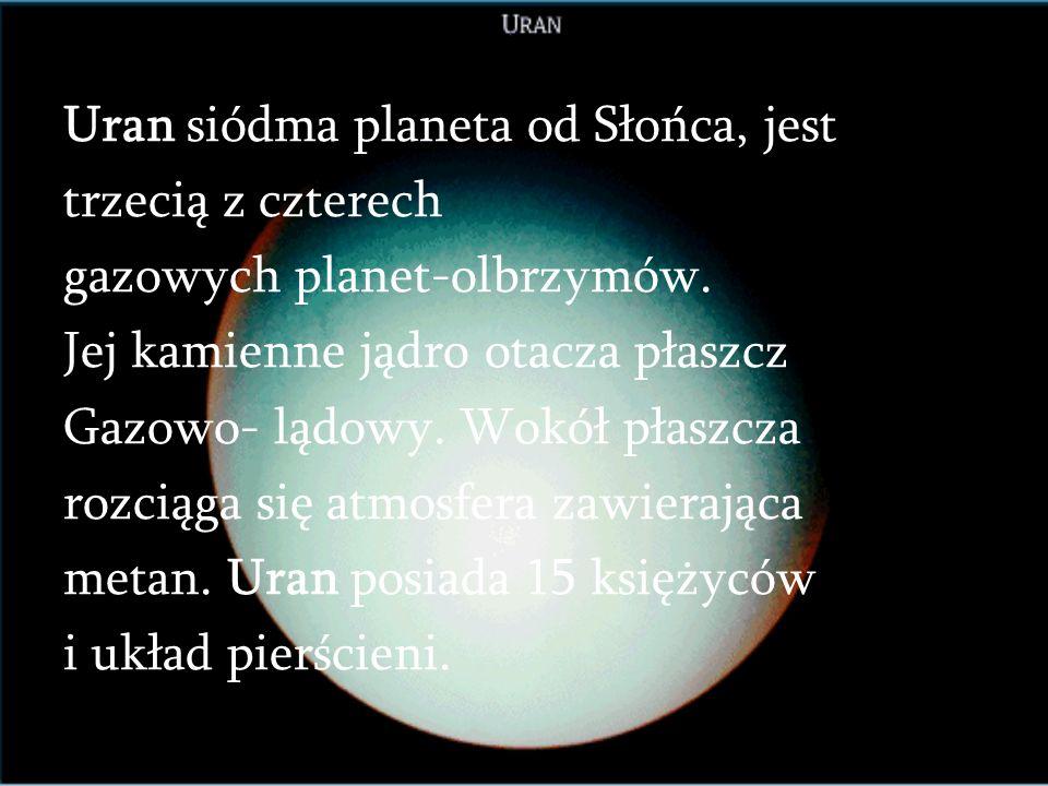 Uran siódma planeta od Słońca, jest