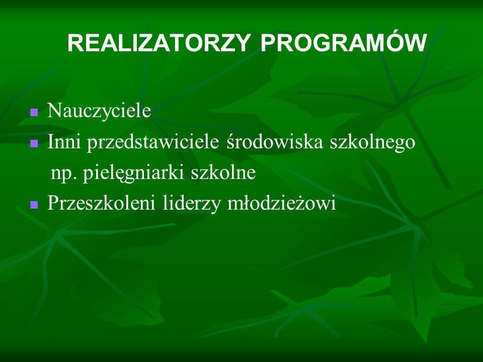 REALIZATORZY PROGRAMÓW