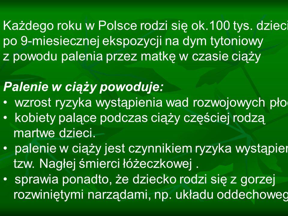 Każdego roku w Polsce rodzi się ok.100 tys. dzieci