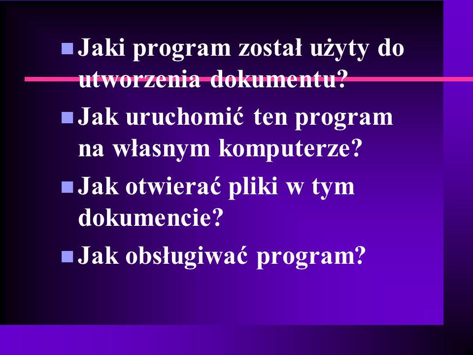 Jaki program został użyty do utworzenia dokumentu