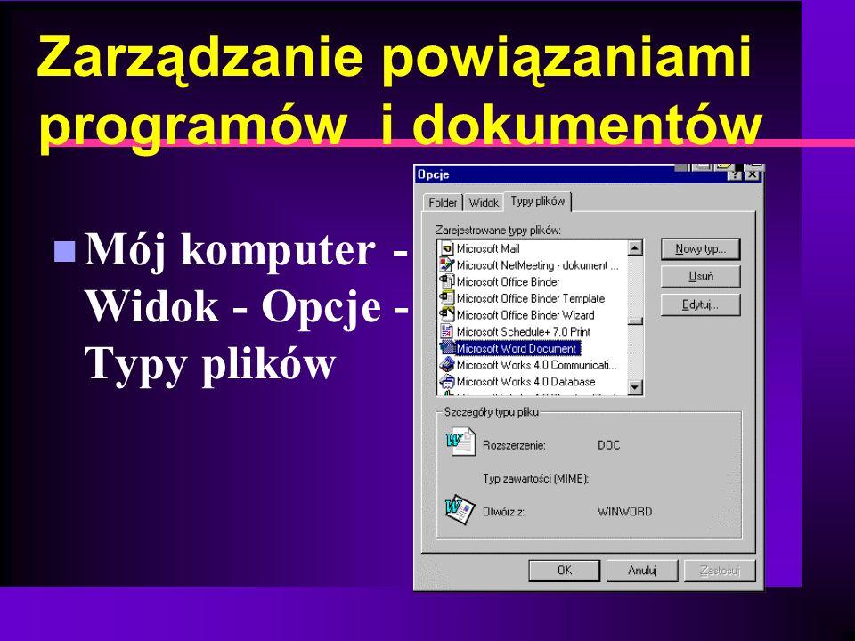 Zarządzanie powiązaniami programów i dokumentów