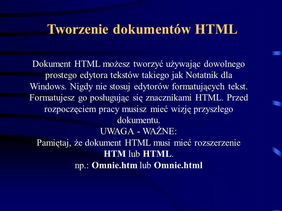 Tworzenie dokumentów HTML