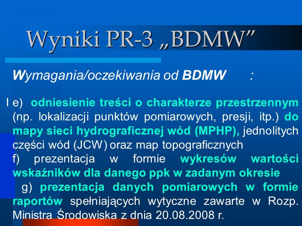 """Wyniki PR-3 """"BDMW Wymagania/oczekiwania od BDMW :"""