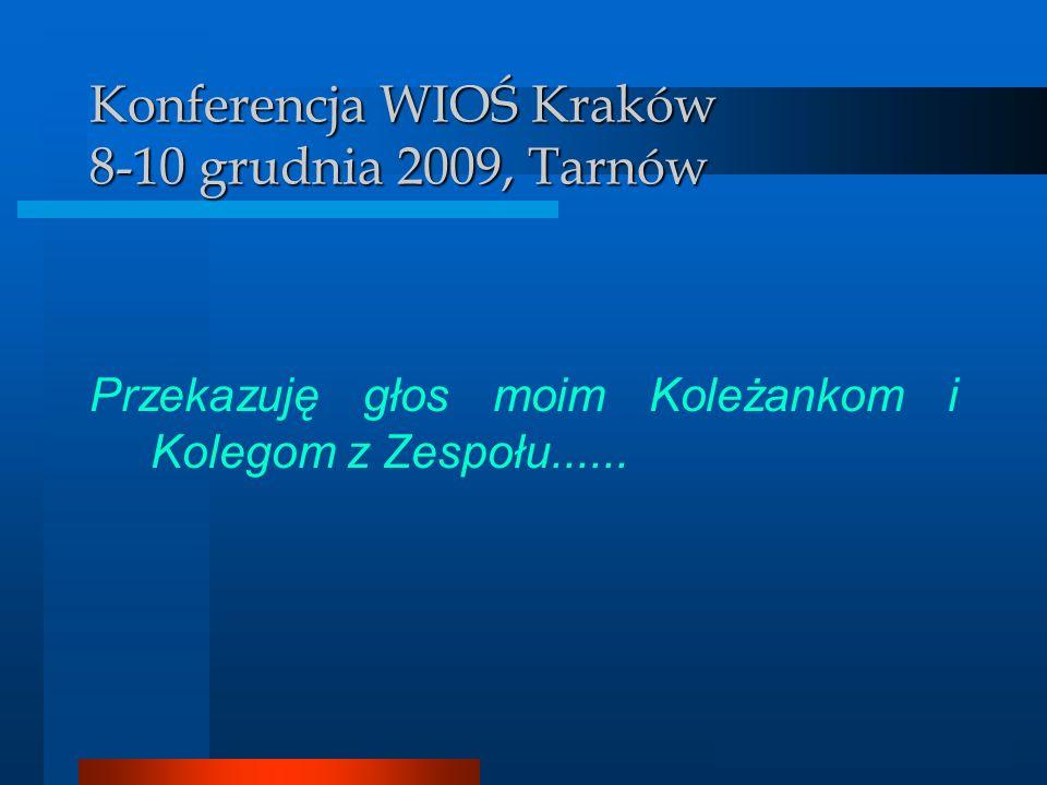 Konferencja WIOŚ Kraków 8-10 grudnia 2009, Tarnów