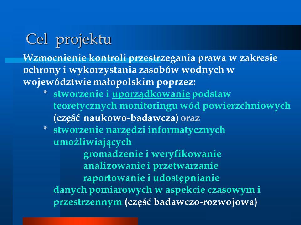 Cel projektu Wzmocnienie kontroli przestrzegania prawa w zakresie ochrony i wykorzystania zasobów wodnych w województwie małopolskim poprzez: