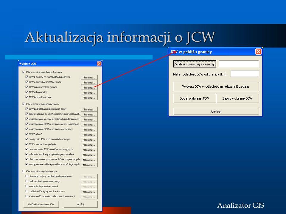 Aktualizacja informacji o JCW