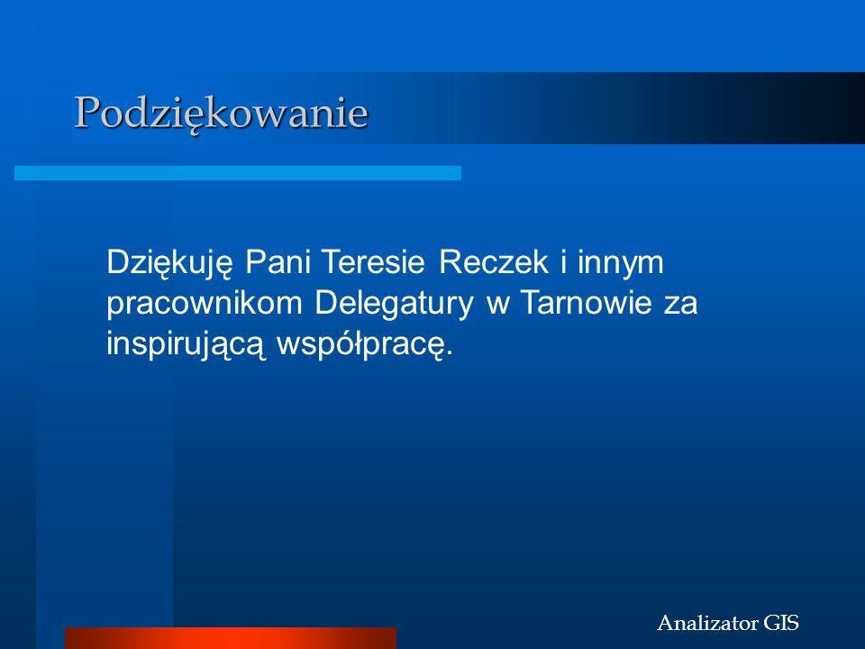 Podziękowanie Dziękuję Pani Teresie Reczek i innym pracownikom Delegatury w Tarnowie za inspirującą współpracę.