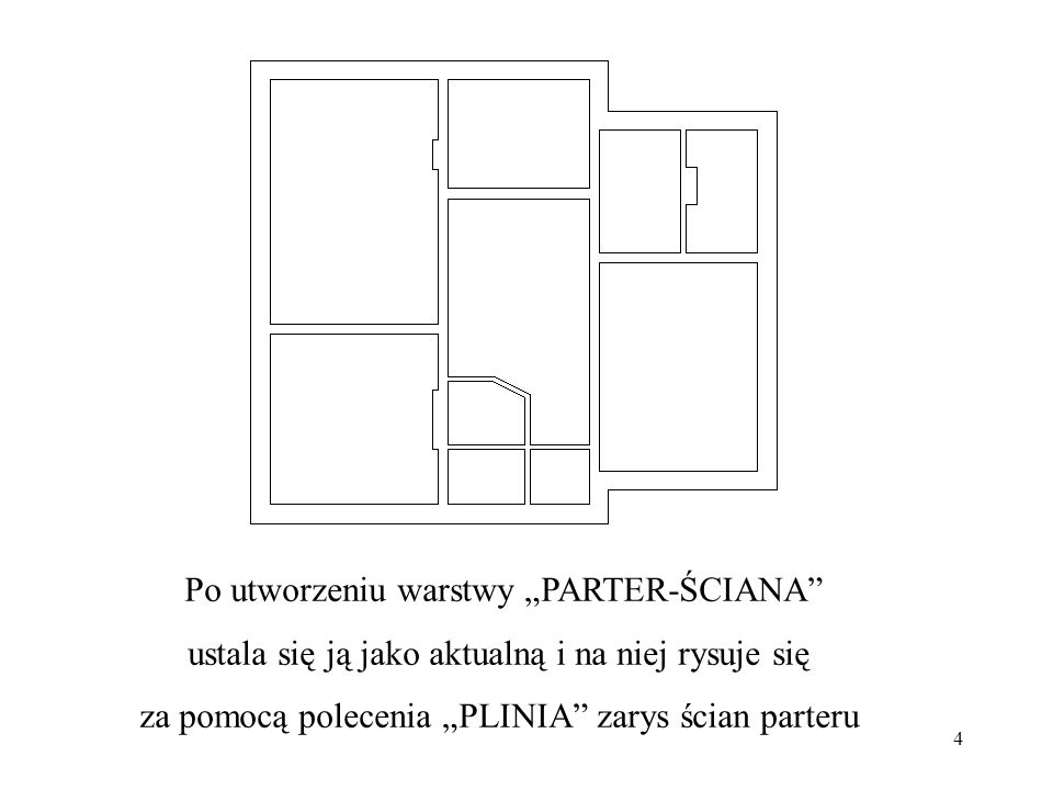 """Po utworzeniu warstwy """"PARTER-ŚCIANA"""