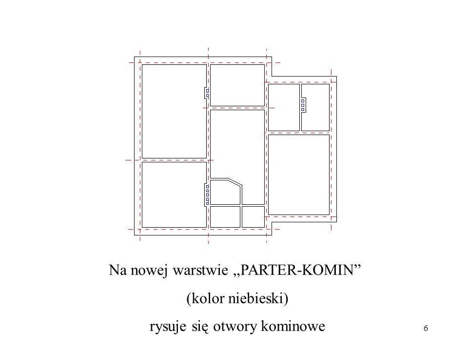 """Na nowej warstwie """"PARTER-KOMIN (kolor niebieski)"""