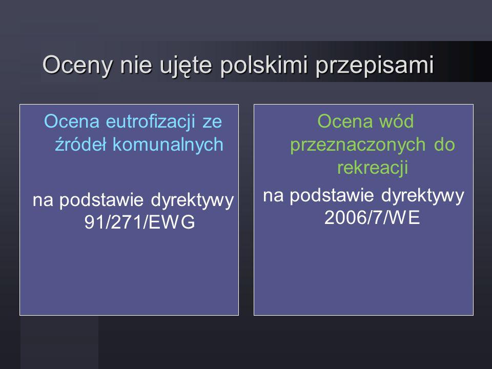 Oceny nie ujęte polskimi przepisami