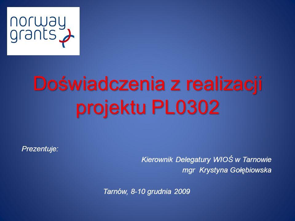 Doświadczenia z realizacji projektu PL0302