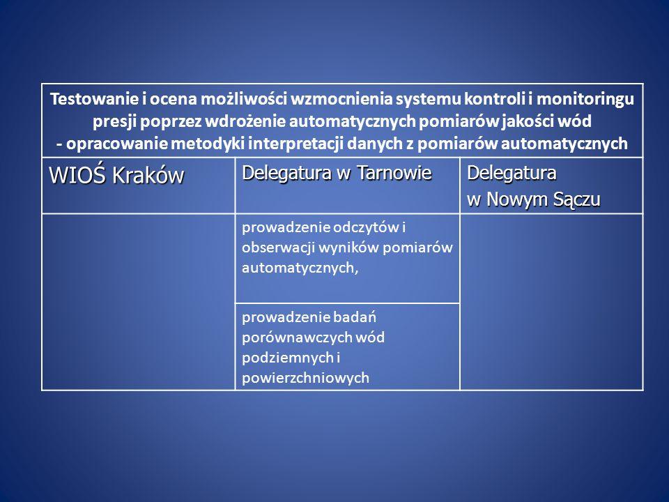 - opracowanie metodyki interpretacji danych z pomiarów automatycznych