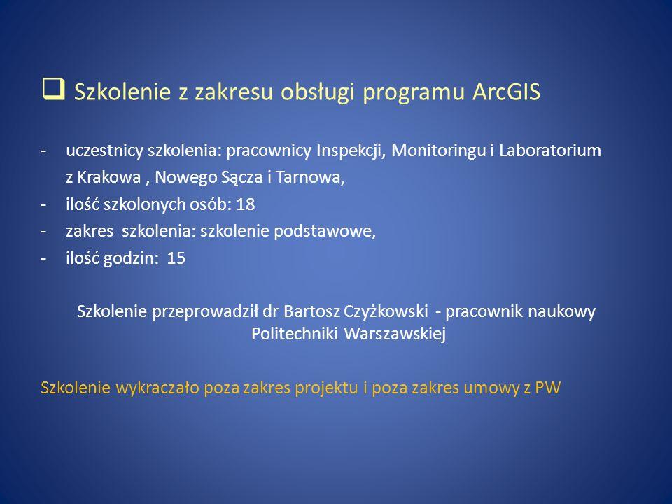 Szkolenie z zakresu obsługi programu ArcGIS