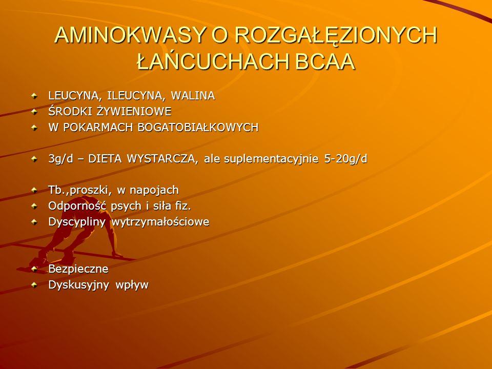AMINOKWASY O ROZGAŁĘZIONYCH ŁAŃCUCHACH BCAA