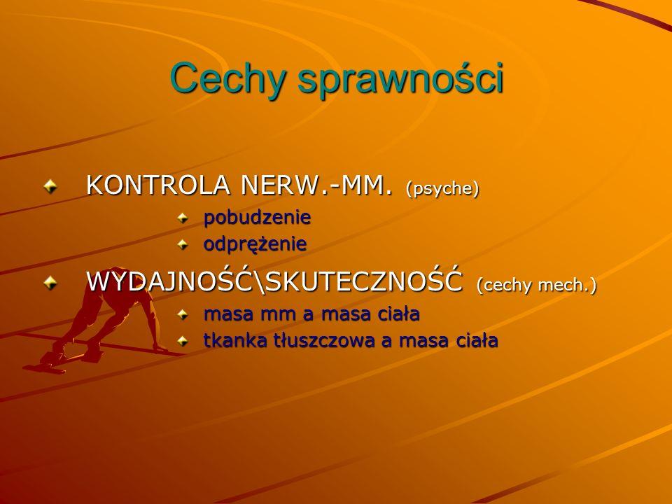 Cechy sprawności KONTROLA NERW.-MM. (psyche)