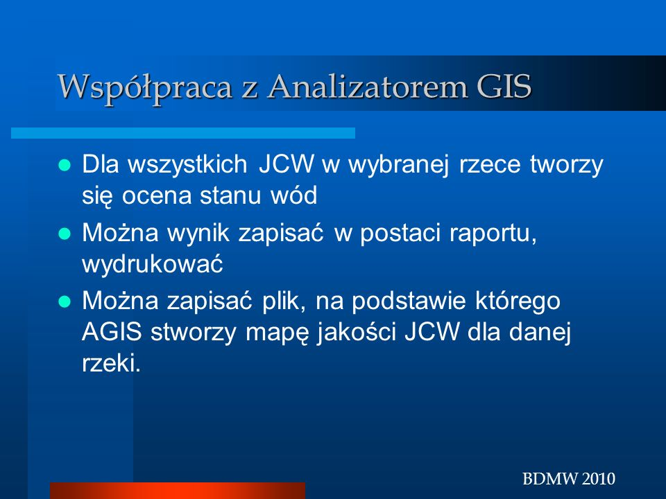 Współpraca z Analizatorem GIS