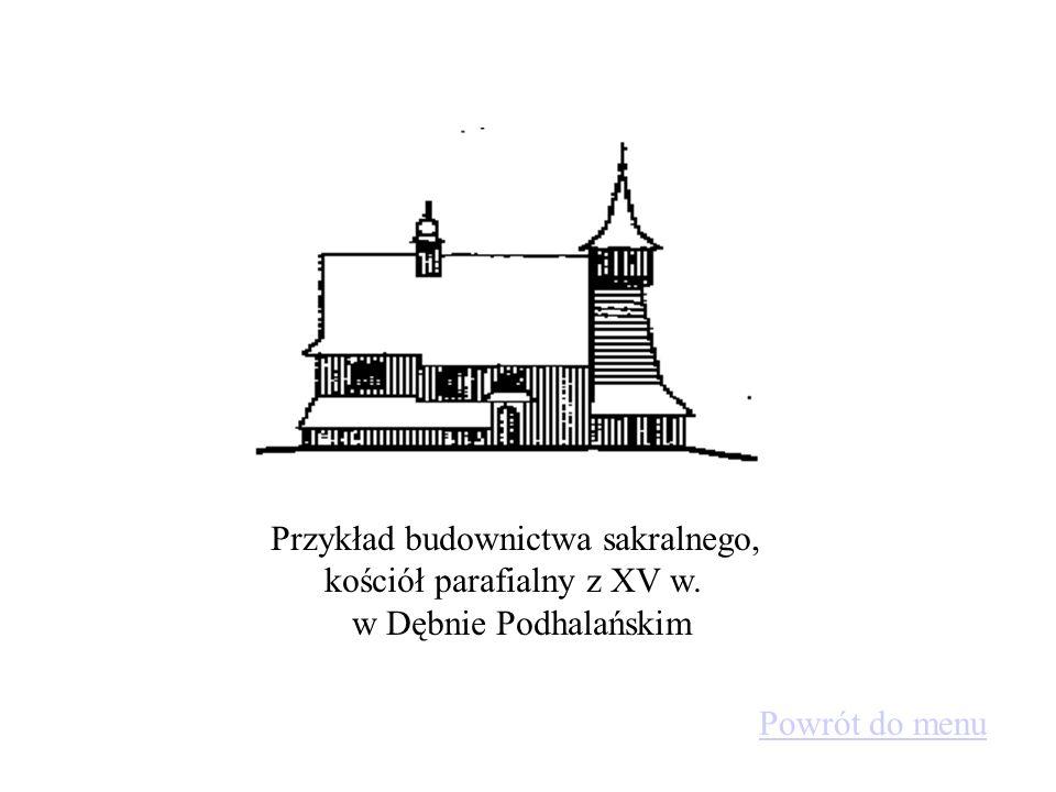 Przykład budownictwa sakralnego, kościół parafialny z XV w