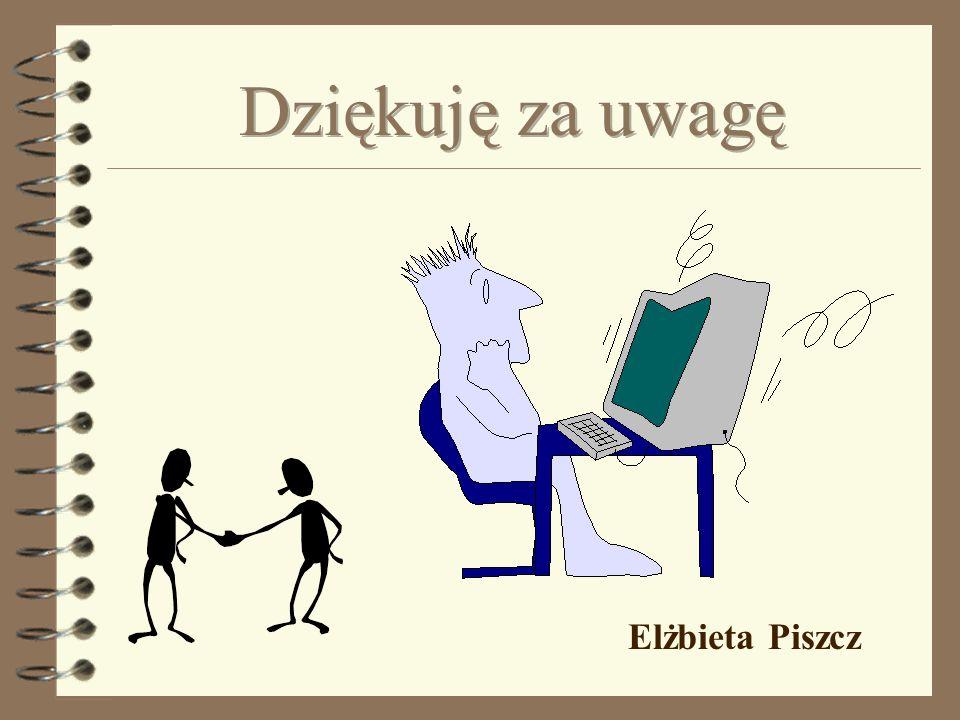 Dziękuję za uwagę Elżbieta Piszcz