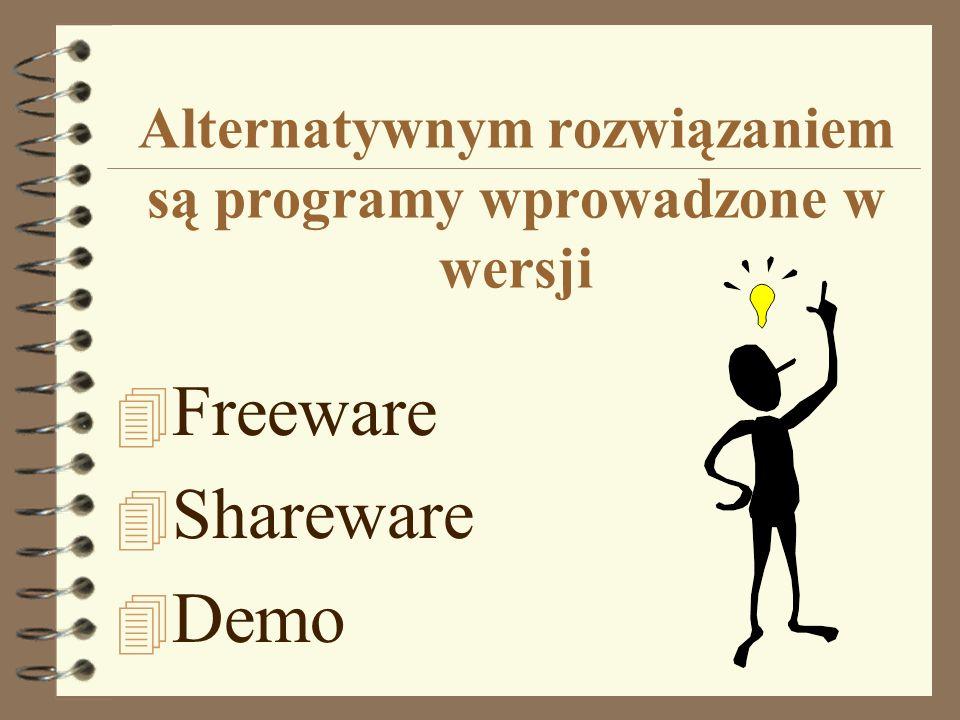 Alternatywnym rozwiązaniem są programy wprowadzone w wersji