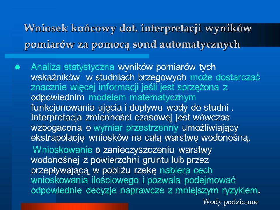 Wniosek końcowy dot. interpretacji wyników pomiarów za pomocą sond automatycznych