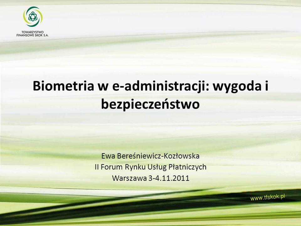 Biometria w e-administracji: wygoda i bezpieczeństwo