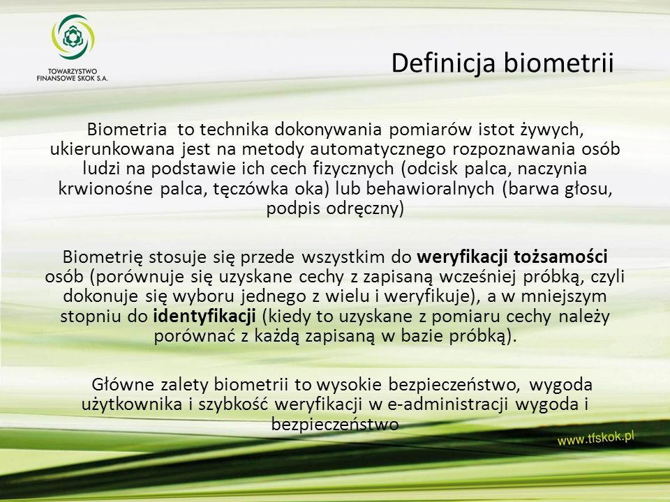 Definicja biometrii
