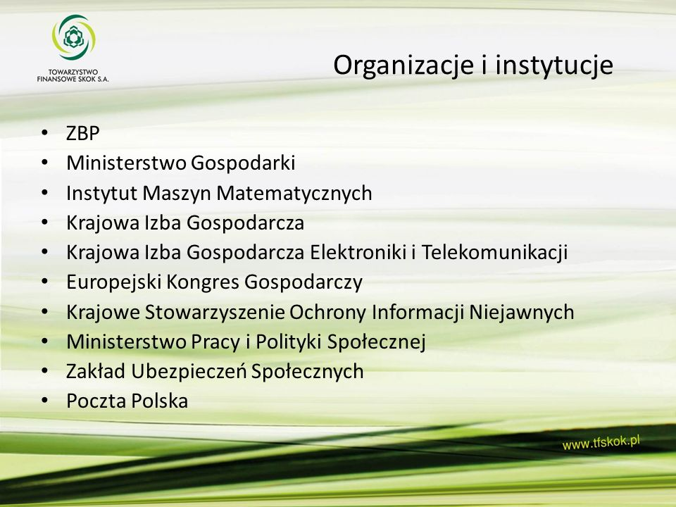 Organizacje i instytucje