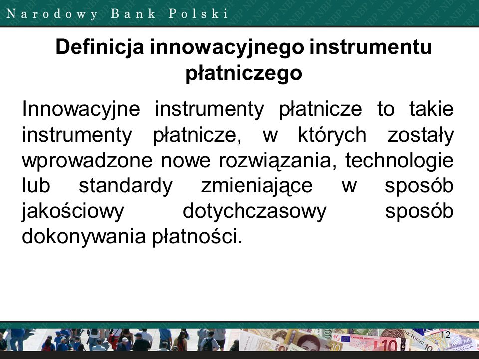 Definicja innowacyjnego instrumentu płatniczego