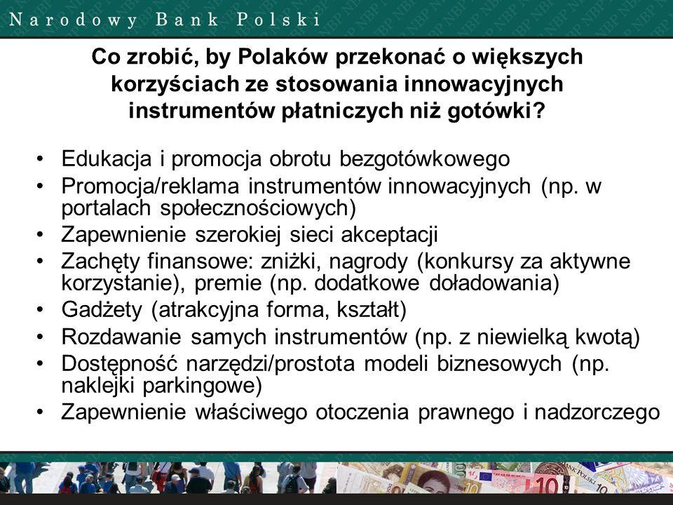 Co zrobić, by Polaków przekonać o większych korzyściach ze stosowania innowacyjnych instrumentów płatniczych niż gotówki