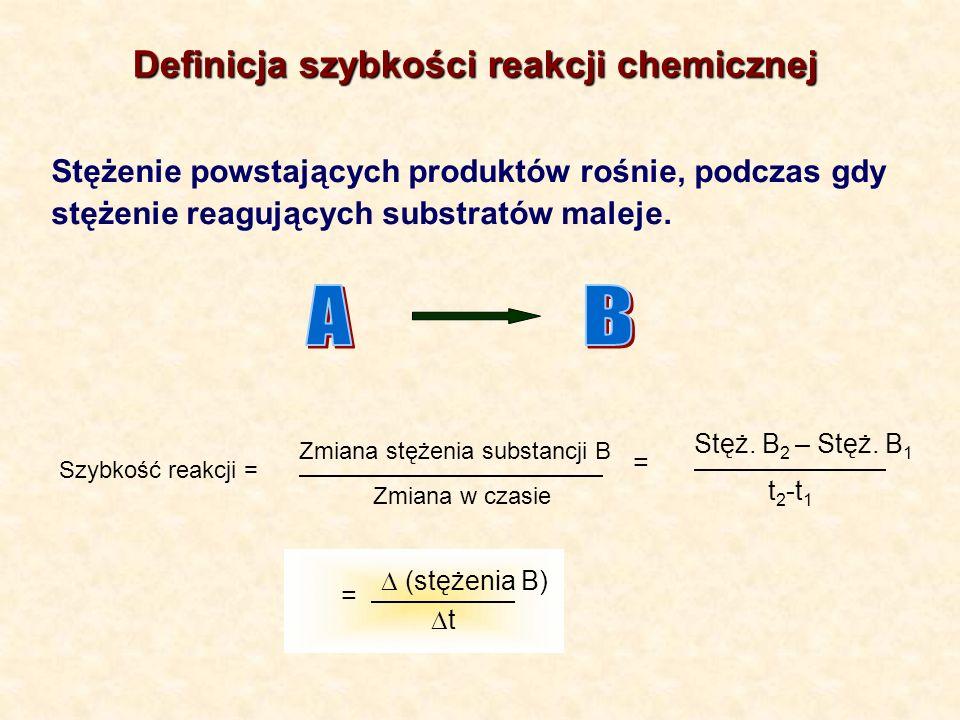 A B Definicja szybkości reakcji chemicznej