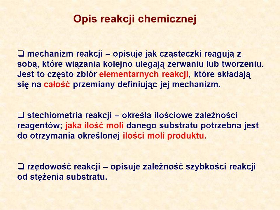 Opis reakcji chemicznej