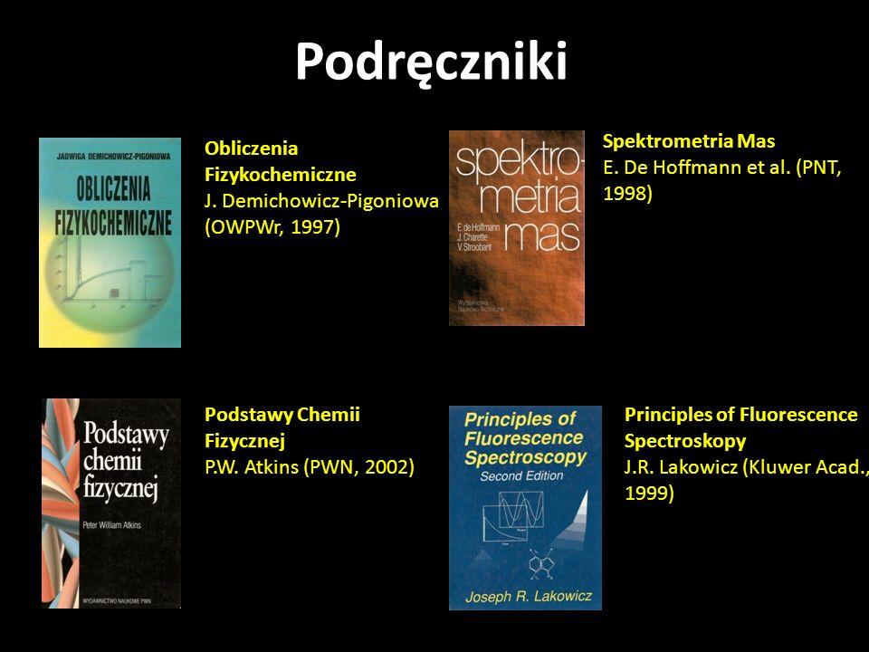Podręczniki Spektrometria Mas E. De Hoffmann et al. (PNT, 1998)