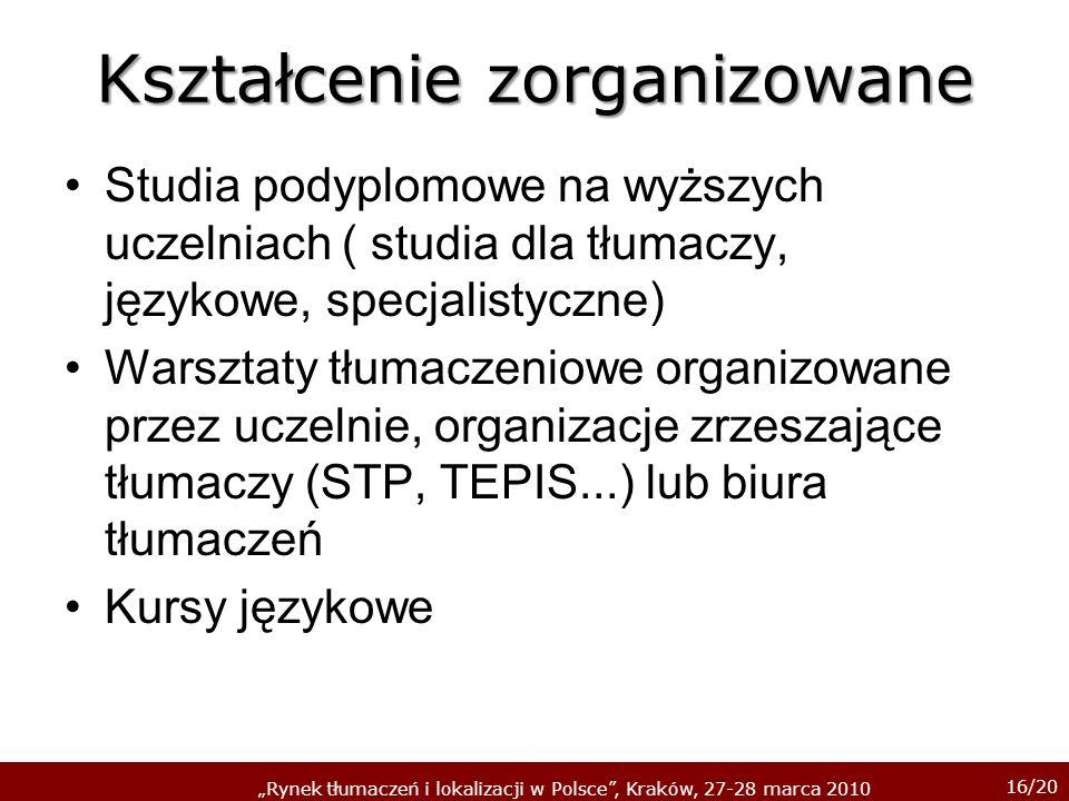 Kształcenie zorganizowane