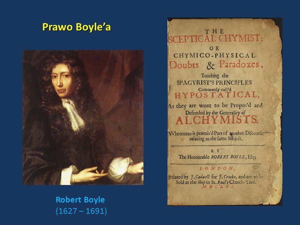 Prawo Boyle'a Robert Boyle (1627 – 1691)