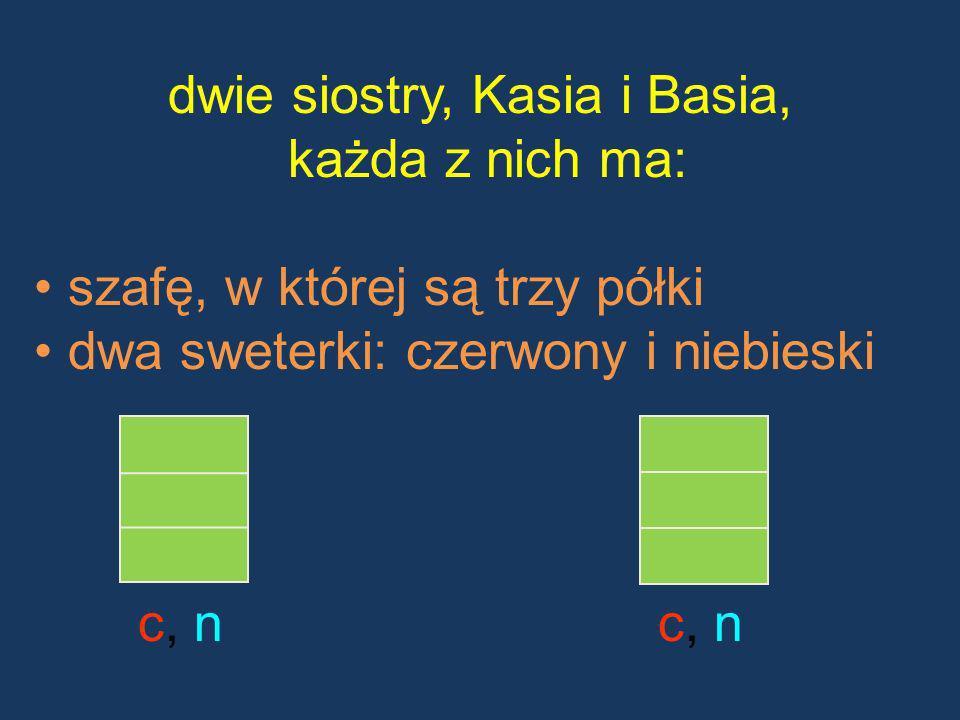 dwie siostry, Kasia i Basia,