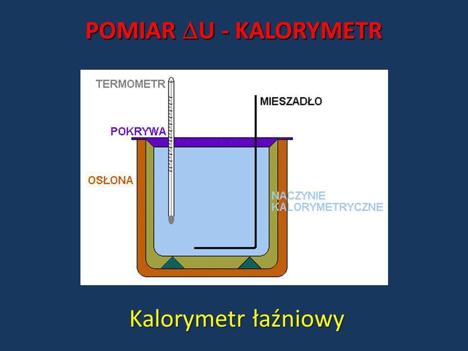 POMIAR U - KALORYMETR Kalorymetr łaźniowy