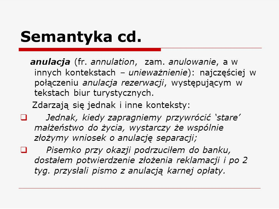 Semantyka cd.