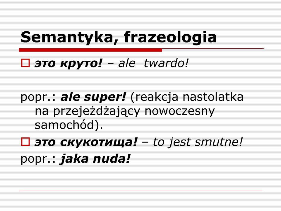 Semantyka, frazeologia
