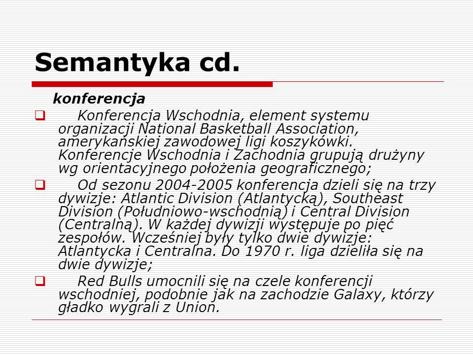 Semantyka cd. konferencja