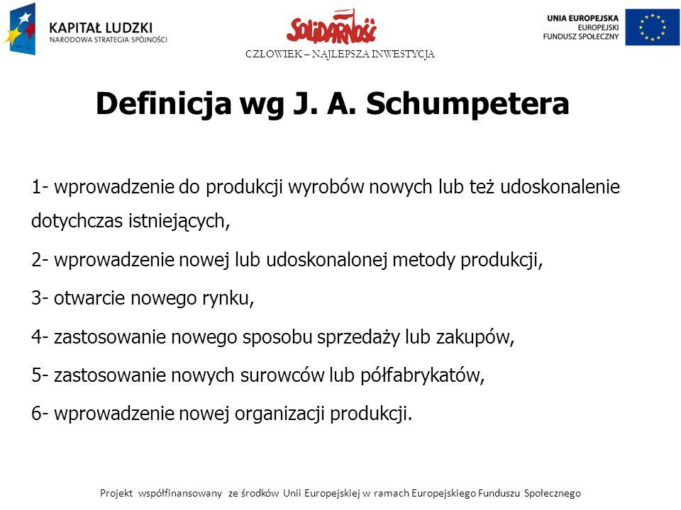 Definicja wg J. A. Schumpetera