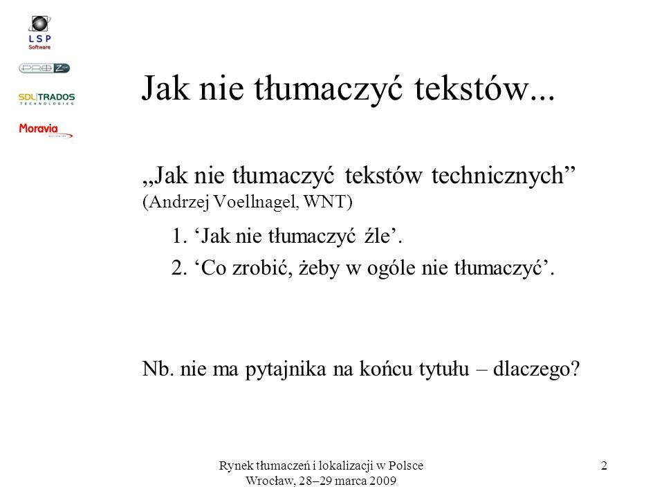Jak nie tłumaczyć tekstów...