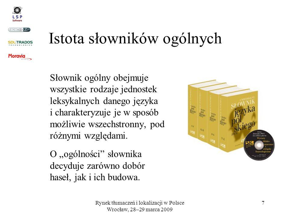 Istota słowników ogólnych