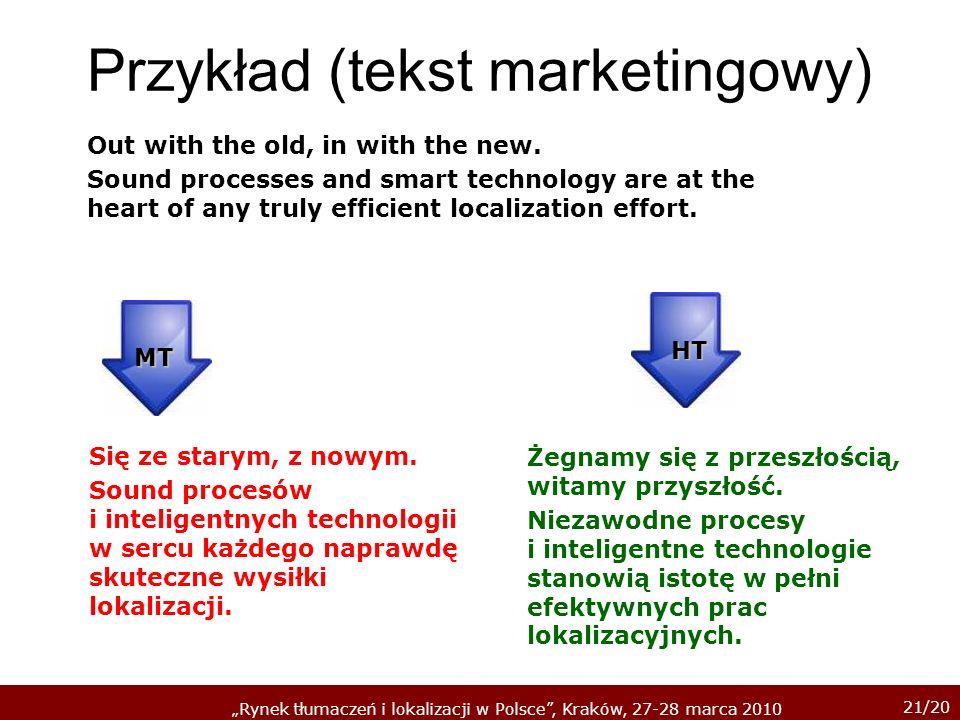 Przykład (tekst marketingowy)