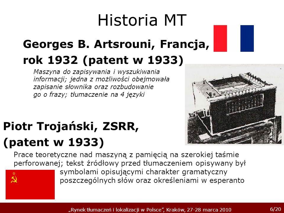 Historia MT Georges B. Artsrouni, Francja, rok 1932 (patent w 1933)