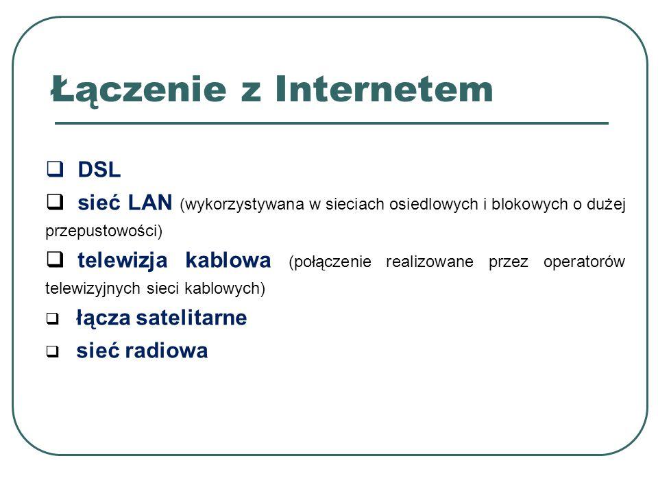 Łączenie z Internetem DSL