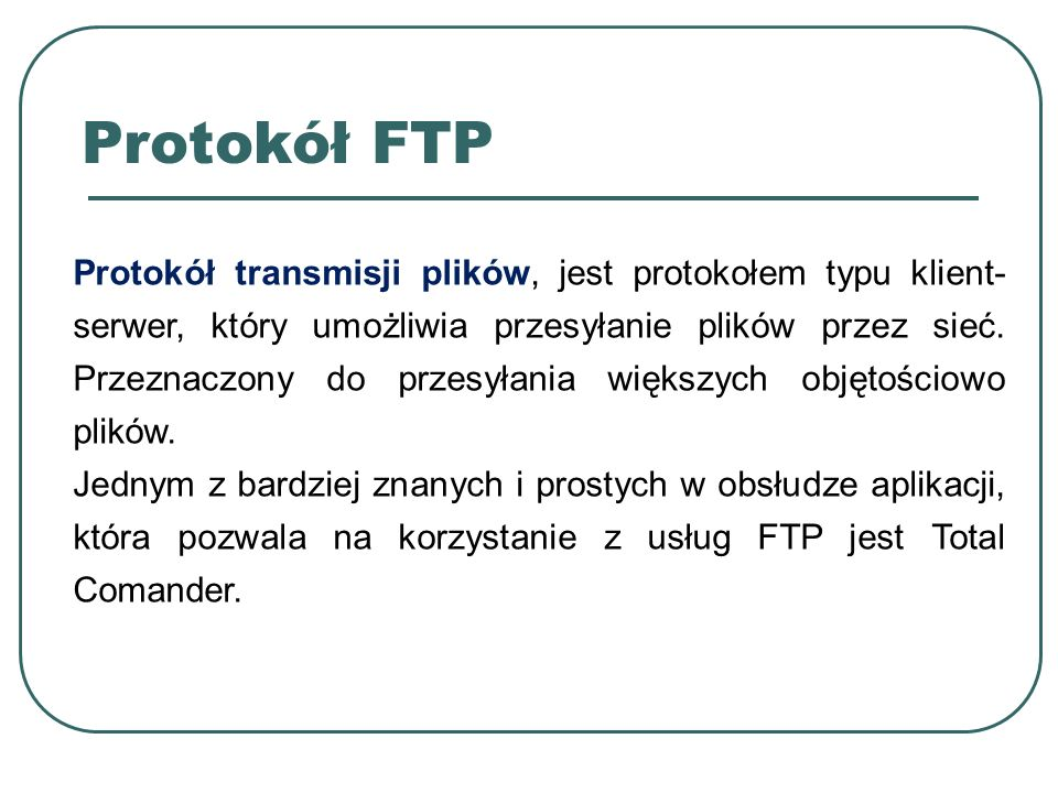 Protokół FTP