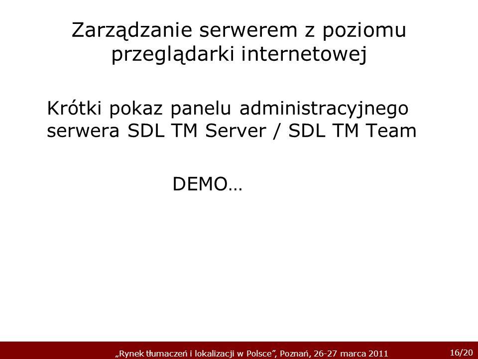 Zarządzanie serwerem z poziomu przeglądarki internetowej